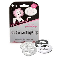 Hollywood Fashion Secrets® Bra Converting Clip (Set of 4) - BedBathandBeyond.com Use in front and back