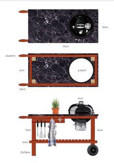 Sketchwork weber grill table