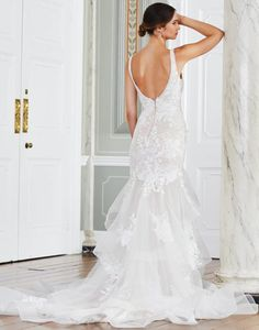 Every bride deserves to be the centre of attention on her big day! The Mandurah strapless mermaid wedding dress is covered with bold floral lace motifs that flow across the bodice into dramatic ruffles that add extra flair and fullness. Tiffany's Bridal, Bridal Style, I M Engaged, Bridal Boutique, Floral Lace, Ruffles, Bodice, Wedding Planning, Mermaid Wedding