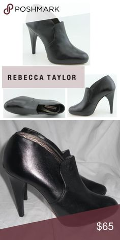 """Rebecca Taylor 'Regal' Leather Ankle Boots The Rebecca Taylor Regal shoes feature a leather upper, a round toe, and a 4.5"""" heel. The leather outsole with man-made interior lends lasting traction and wear. Made in Brazil. Excellent, pre-loved condition with no major wear or flaws. Please refer to pictures. Rebecca Taylor Shoes Ankle Boots & Booties"""