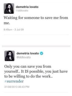Demi's tweets 2009 compared to 2013