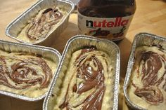 Nutella Swirled Banana Bread. NEVER EVEN THOUGHT OF DIS ! OH EM GEEE