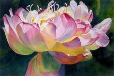 """Ann Pember's """"Luminous Lotus II"""