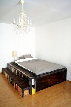 Handmade Bed In The Industrial Look