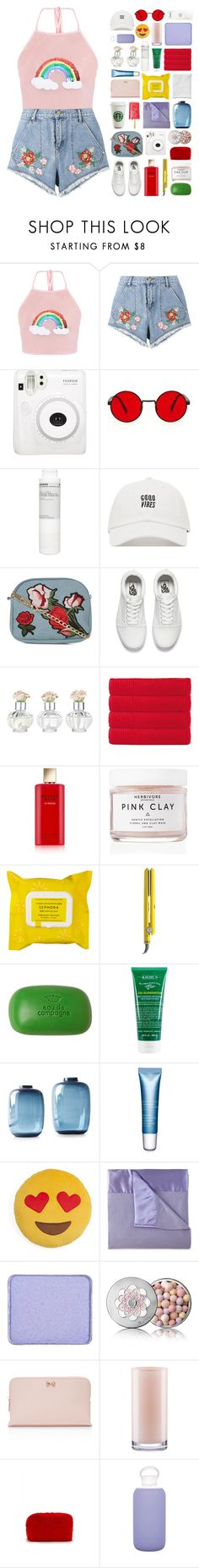 """""""~Under the Rainbow~"""" by amethyst0818 ❤ liked on Polyvore featuring House of Holland, Fuji, Korres, New Look, Vans, Shabby Chic, Olivier Desforges, Estée Lauder, Herbivore and Sephora Collection"""