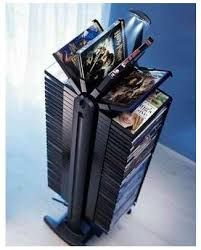DVD storage can be difficult for small apartments and houses. Check out these 10 clever and easy DVD storage ideas for small spaces for a creativity push. Dvd Storage Rack, Video Game Storage, Movie Storage, Dvd Rack, Storage Room, Storage Shelves, Console Style, Dvd Regal, Home Music