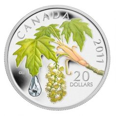 Maple Leaf with Raindrop – 2011 – Canada – 20 Dollars – silver coin with Swarovski Crystals