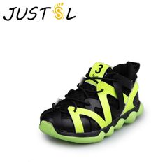 JUSTSL 2017 new children's non-slip sports shoes boys casual shoes girls fashion sneakers kids running shoes size 26-30
