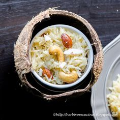 Herbivore Cucina: Narali Bhaat | Sweet Coconut Rice  A simple recipe to make rice with jaggery and coconut. An absolutely delightful recipe that is so simple to make!