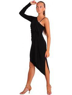 Купить Платье латинское с одним рукавом №243