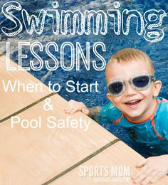 Does your child know how to swim? Find out the best time to start swim lessons and teach pool safety. Baby Safety, Child Safety, Water Safety, Safety Tips, Family Safety, Learn To Swim, Swim Lessons, Sports Mom, Kids Swimming