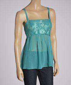 Love this Jade Abstract Sleeveless Top by Ella Samani on #zulily! #zulilyfinds