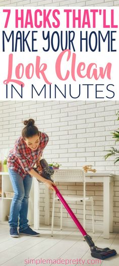 These cleaning hacks tips and tricks will have your home looking clean in no time. Speed clean your whole house with these tips. These speed cleaning hacks will come in handy when you have unexpected guests at home.