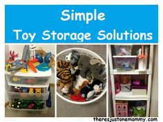 Simple Toy Storage Solutions