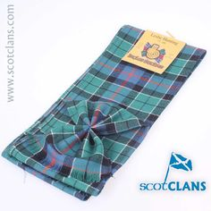 Leslie Ancient Tartan Mini Sash. Free Worldwide Shipping Available