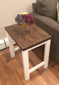 Simple Square Side Table FREE DIY Plans