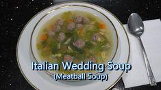 Italian Grandma Makes Italian Wedding Soup (Meatball Soup) - YouTube Italian Pasta Recipes, Italian Dishes, Italian Foods, Soup Recipes, Cooking Recipes, Chili Recipes, Cooking Ideas, Cacciatore Recipes, Lawn