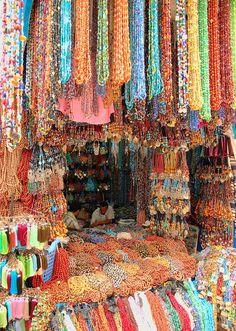 Beads in a Moroccan Market...sooooo much fun!