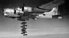 Boeing B-17G bombing run A U.S. Army Air Force Boeing B-17G-50-VE Flying Fortress (s/n 44-8167, built by Lockheed) of the 15th Air Force, 2nd Bomb Group, 96th Bomb Squadron, dropping its bombs in 1944/45. The 2nd BG was based at Amendola, Italy, from 9 December 1943 to 19 November 1945
