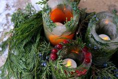 DIY: Botanical Ice Lanterns, from Gardenista