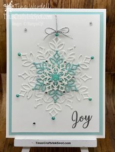 Snowflake Showcase Cards-Sneak Peek ⋆ Tina Wardell~Stampin' Up! Independent Demonstrator - Snow is Glistening - Merry Christmas to All Corporate Christmas Cards, Christmas Cards 2018, Homemade Christmas Cards, Christmas Photo Cards, Homemade Cards, Holiday Cards, Chrismas Cards, Personalised Christmas Cards, Handmade Christmas