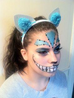 Tim Burton Cheshire Cat Inspired Fantasy Makeup 2 by kaylaSUP.deviantart.com