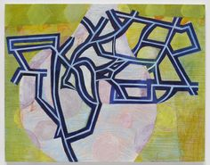 "Thomas Nozkowski, Untitled (9-13) Oil on linen on panel, 22 x 28"" via Pace Gallery, NY"