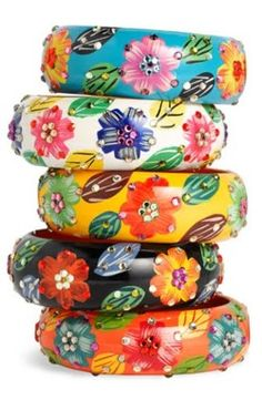 Floral bangles..stacked