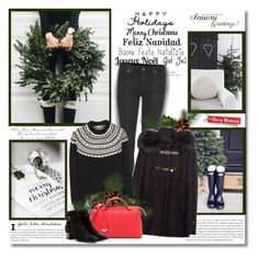 """""""Happy Holidays!!"""" by lilly-2711 ❤ liked on Polyvore featuring H&M, 7 For All Mankind, Yves Saint Laurent and Fendi"""