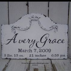 ~BABY BIRTH ANNOUNCEMENT SIGN ~ Etsy