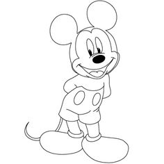 How to draw Mickey, Minnie, and other Disney characters.  Step-by-step, easy to follow instructions!