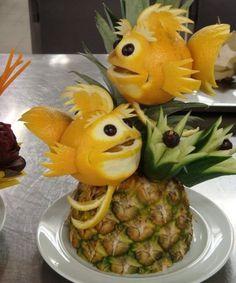Citromból készült halak - Fishes made of lemon #lemon #fishes #primaboltok