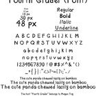 """Add a cute, quirkiness to your lettering with """"Fourth Grader."""" Perfect for worksheets or newsletters. Hand-written by me in Photoshop, then convert..."""
