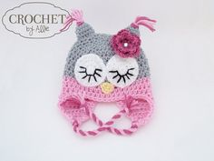 Crochet Owl Hat Boy and girl colors would nice!