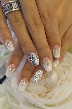 wedding nails - 40 Ideas for Wedding Nail Designs  <3 <3