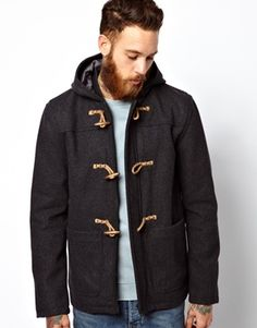 Buy ASOS Duffle Coat In Charcoal at ASOS. With free delivery and return options (Ts&Cs apply), online shopping has never been so easy. Get the latest trends with ASOS now. New Outfits, Cool Outfits, Asos Men, Duffle Coat, Sharp Dressed Man, Used Clothing, Canada Goose Jackets, Men Dress, Winter Fashion