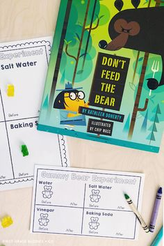 Simple Science: Gummy Bear Experiment | First Grade Buddies Gummy Bear Experiment, Dont Feed The Bears, Bad Cats, Recording Sheets, Gummy Bears, Science For Kids, First Grade, Cool Cats, Teaching