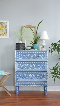 Opt for some easy paint-and-pattern color block upgrades, or go all-out with an elaborate bone-inlay stencil.