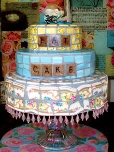 Mosaic Cake - Eat Cake | Flickr - Photo Sharing!