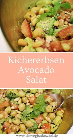 Kichererbsen-Avocado-Salat mit Hanfsamen und Pinienkernen Kichererbsen Avocado Salat Kichererbsen Avocado Salat Rezept vegan glutenfrei The post Kichererbsen-Avocado-Salat mit Hanfsamen und Pinienkernen appeared first on Vegan. Salads For A Crowd, Salad Recipes For Dinner, Chicken Salad Recipes, Healthy Salad Recipes, Healthy Desserts, Fish Recipes, Avocado Nutrition, Chickpeas Nutrition, Scitec Nutrition