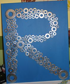 Art with washers ... craft #5