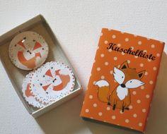 Kuschelkiste Fuchs 3 D Karte + Magnet - Schachtel  von ღKreawusel-Designღ auf DaWanda.com