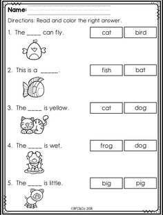 Kindergarten Read and Write Freebie by BFC and Co Teaching Resources English Worksheets For Kindergarten, First Grade Worksheets, Phonics Worksheets, Writing Worksheets, Kindergarten Writing, Preschool Learning, Kindergarten Sight Words List, Kindergarten Handwriting, Kindergarten Special Education