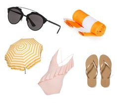 """Beach"" by livefashion7 on Polyvore featuring Christian Dior, Marysia Swim, Parasol and Old Navy"