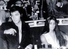 Priscilla and Elvis at the premiere of the Nancy Sinatra show in Las Vegas august 29 1969. At the time Elvis was at the Sheraton hotel for his first Vegas engagement. The Sheraton Hotel became in 1971 the Las Vegas Hilton.