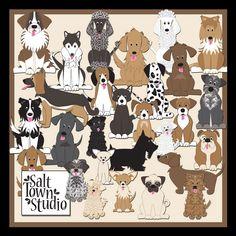 Must Love Dogs Elements | Salt Town Studio Digital Art