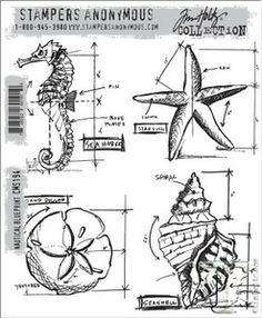 30 best Tim Holtz Blueprint Stamps images on Pinterest