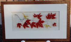 https://flic.kr/p/aqJZGS | Maple Leaves - Fused glass panel | Sold - October 2011