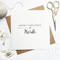 Personalised Merry Christmas Foiled Card.  Christmas greeting cards are one of our favourite traditions. Discover unique, inspiring Christmas cards that are sure to stand out.