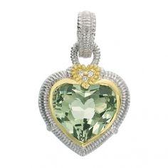 Judith Ripka  Large Heart Stone Enhancer $500